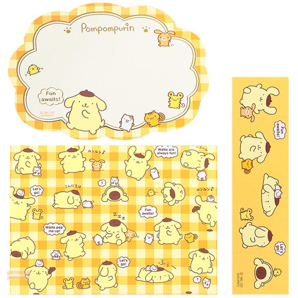 폼폼푸린폼폼푸린 디자인컷 카드 편지지세트(해피타임) (일)) 253816