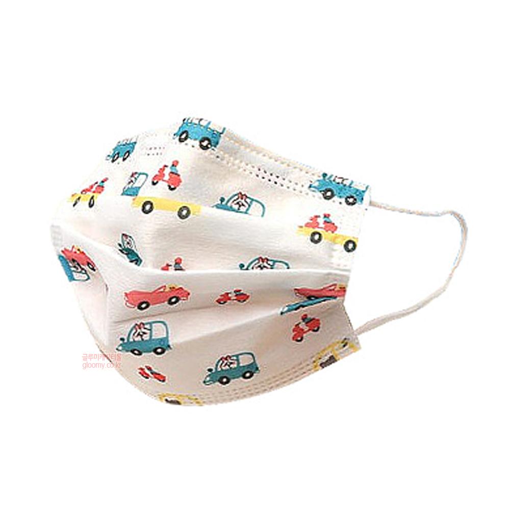자체브랜드어린이 3중 필터 일회용 마스크(붕붕화이트) 50p세트 074978
