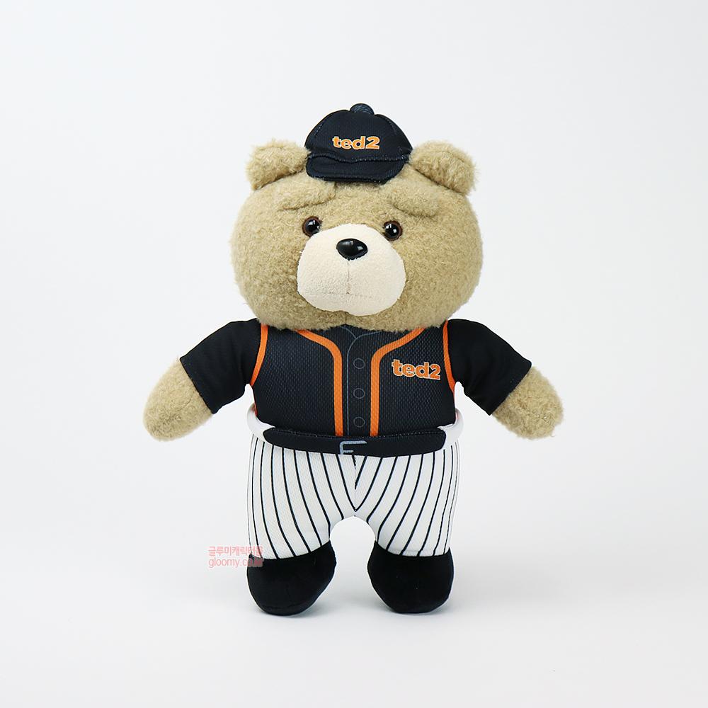 테드테드2 베이스볼 스탠딩 봉제인형 30cm(블랙) 017077