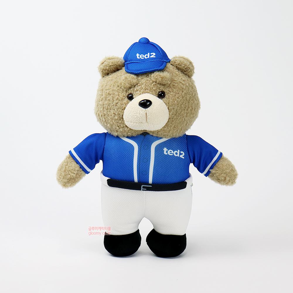 테드테드2 베이스볼 스탠딩 봉제인형 30cm(블루) 017084
