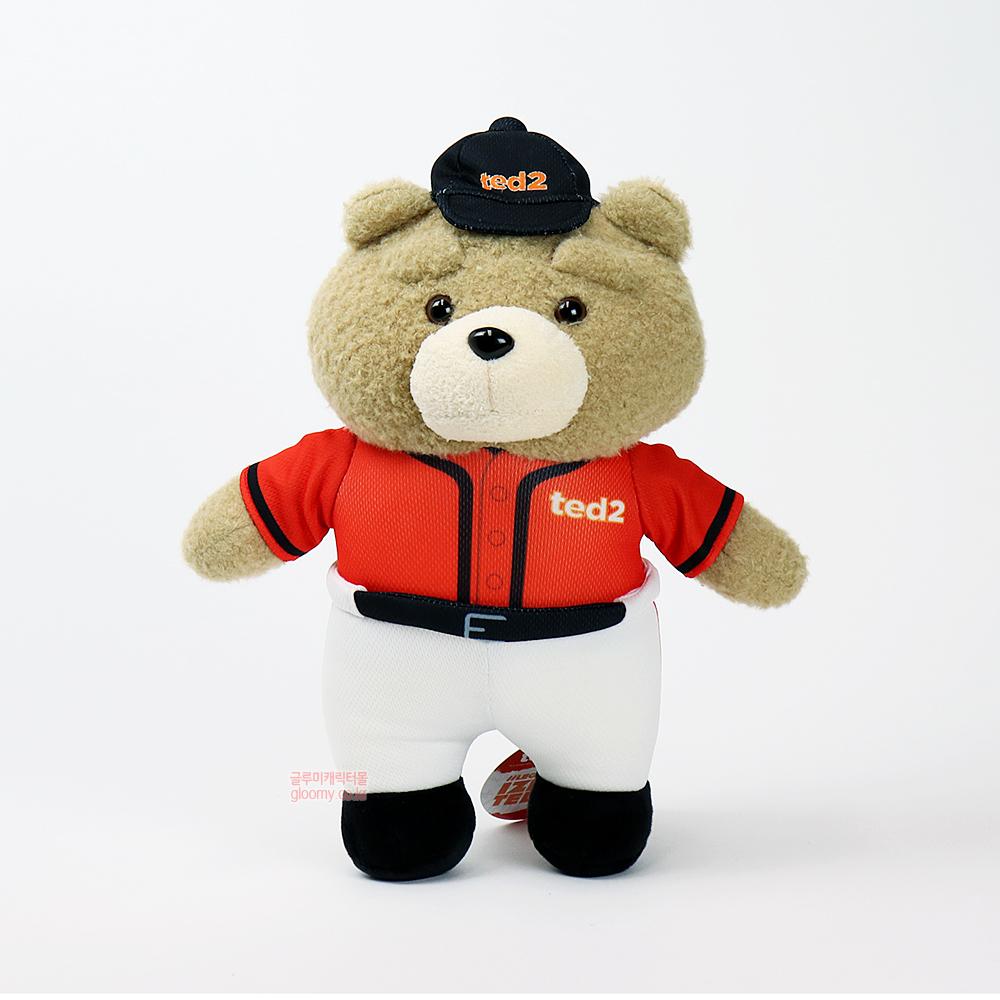 테드테드2 베이스볼 스탠딩 봉제인형 30cm(오렌지블랙) 017060
