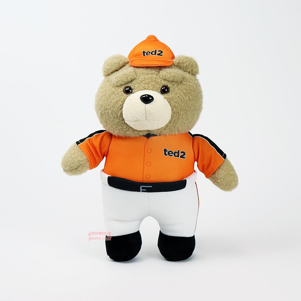 테드테드2 베이스볼 스탠딩 봉제인형 30cm(오렌지) 017060