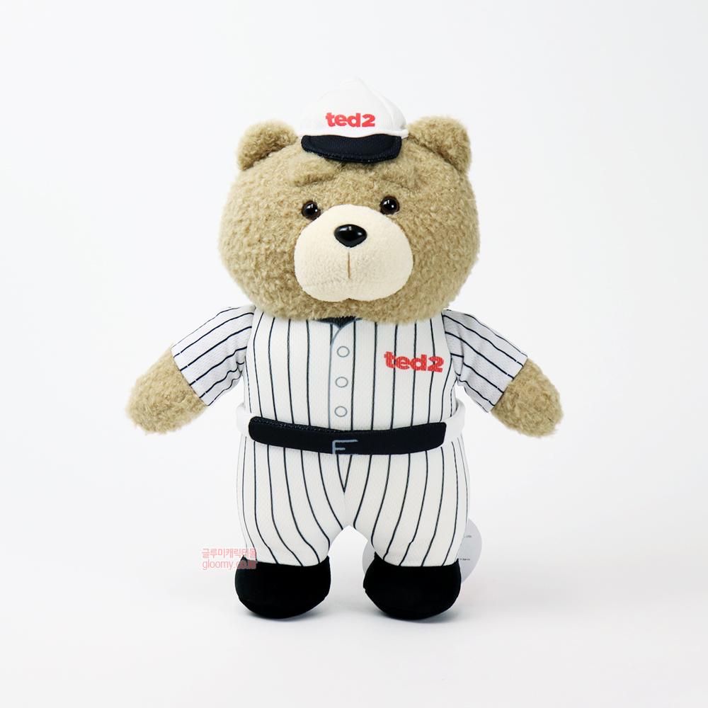 테드테드2 베이스볼 스탠딩 봉제인형 30cm(화이트) 017060