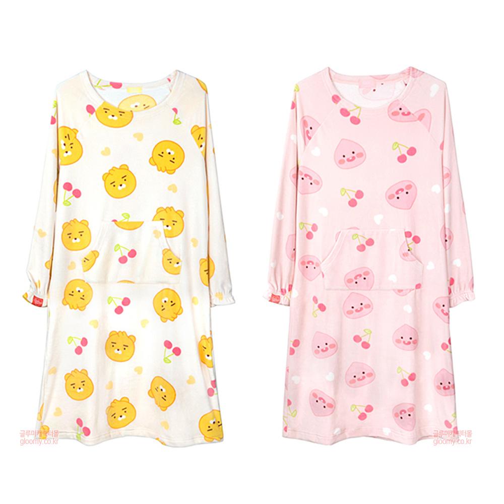 카카오프렌즈카카오리틀프렌즈 원피스 수면잠옷(체리프렌즈) 625683
