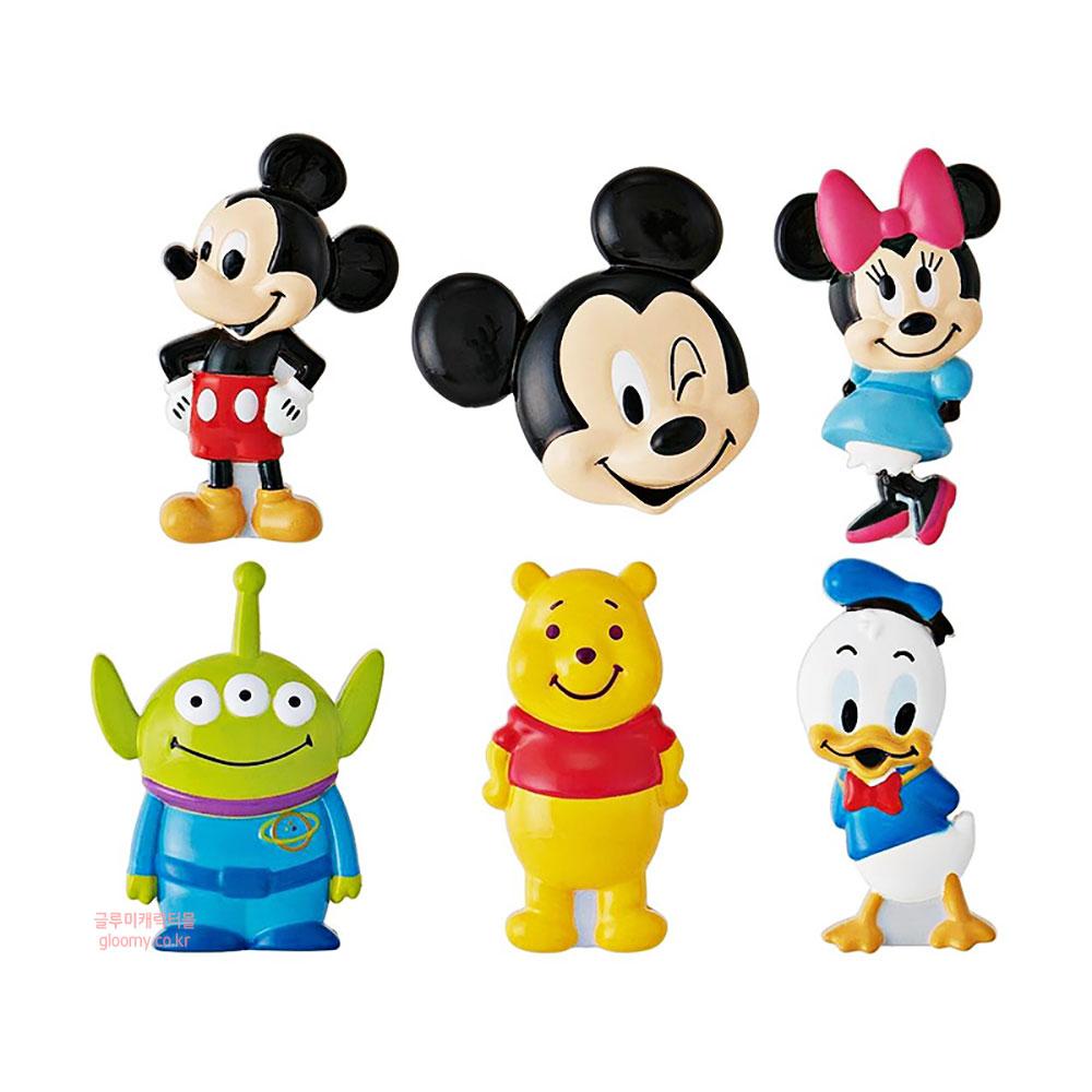 디즈니디즈니 캐릭터 얼굴 마그넷 6p세트(일) 냉장고자석 389801